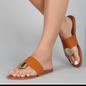 Vegan leather imported sandal NWTO